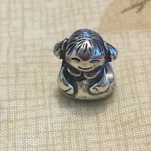 Authentic Pandora little girl charm